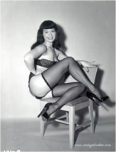 Pin-up スター bettie page..