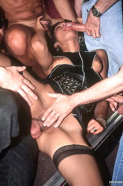 Slut is happy with the gangbang treatment - part 335