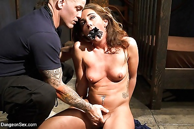 Savannah fox kinky redhead in rope bondage is fucked and squirts from vibrator - part 315