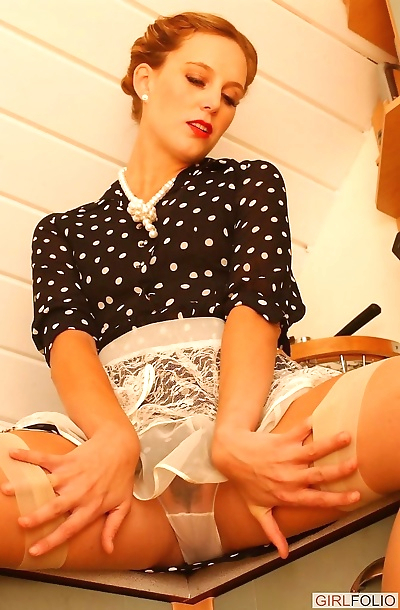 Sexy leady teasing in the kintchen - part 175